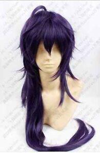 Free shipping Magi Sinbad Purple Mix Long Wavy Cosplay Wig
