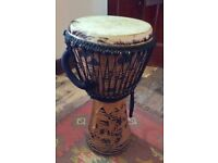 Large Djembe Drum - handmade - great condition