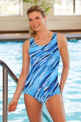 Dolfin Cascade Power Back Chlorine Resistant One Piece Swimsuit 16,18, 20, (Chlorine Swimsuits)