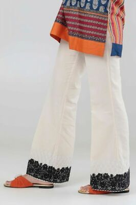 KHAADI 100% original OFF W BOOT CUT embroidered TROUSER PANTS 10 OR 12 OR 14 ,16