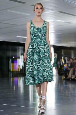 Jonathan Saunders green runway dress 38 uk10 ref GB
