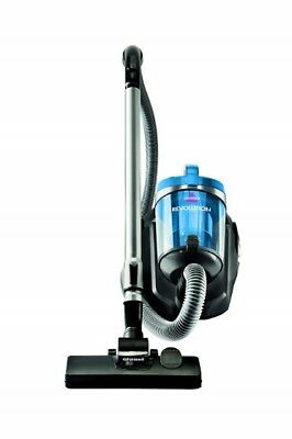 BISSELL Revolution Bagless Canister Vacuum Blue Cyclonic Action Corded w/ Rewind