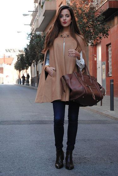 Wool Camel Cape Coat