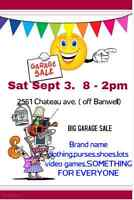 BIG BIG GARAGE  SALE // ONE DAY SAT.SEPTEMBER 3rd