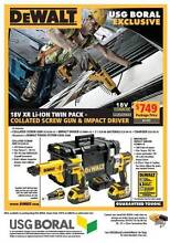 Makita - Dewalt Collated Screw gun kit with impact driver. West Melbourne Melbourne City Preview