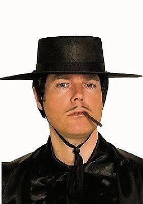 Rächer Zorro Spanier Zoro Bandit Räuber Held Hut Mütze Kostüm Rächerhut Karneval