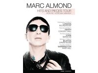MARC ALMOND - YORK BARBICAN - TONIGHT! - STALLS ROW A - 1 TICKET - £50 CASH - COLLECTION AT VENUE