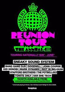 4x tickets - Ministry of Sound Presents The Reunion 05-08 Melbourne CBD Melbourne City Preview