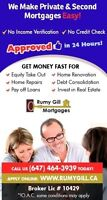 Home Equity Loan / Second Mortgage & Private Mortgage - upto 90%