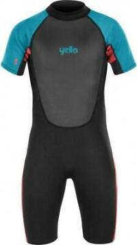 Yello wetsuit Thresher shorty 2 mm jongens zwart maat MT