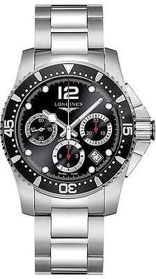 Longines HydroConquest Divers Chronograph Black Men's Watch 41mm L3.744.4.56.6
