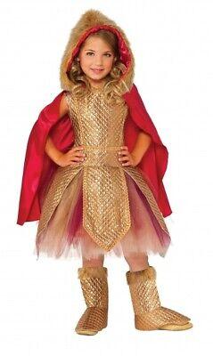 Rubie's kinderkostüm Kriegerin Prinzessin gold/rot Größe - Kinder Krieg Kostüme