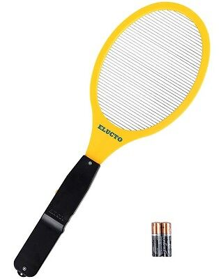 Electric Bug Insect Pest Zapper Fly Swatter Indoor Outdoor Aa Batteries Included