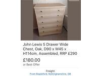 John Lewis 5-drawer Chest,