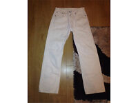 Levi Strauss & Co. 501 White Jeans