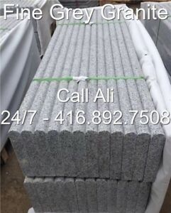 Fine Grey Granite Wall Coping Grey Step Tread Coping Risers