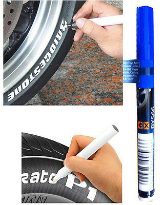 4 Pack Car Motorcycle Cycle Tyre permanent white paint marker pen most surfaces