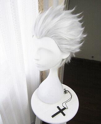 Fate Go Extra Archer Cosplay Kostüme Weiß Silber Perücke wig kurz Shirou Emiya