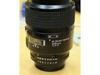 Nikon 105mm f2.8 Micro Lense Excellent Condition Very Sharp Lens
