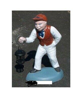 Concrete Lawn jockey statue. Appx 27 inches tall .WHITE BOY JOCKEY PICKUP