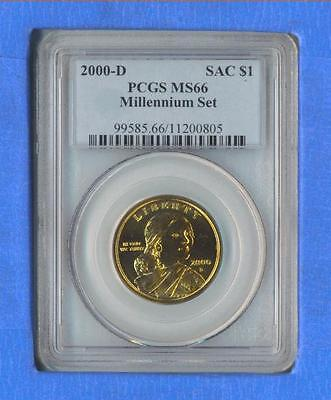 2000 D MILLENNIUM SET SACAGAWEA PCGS MS-66 BUSINESS STRIKE