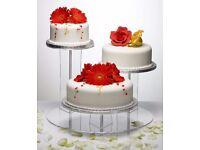 3 Tier Acrylic Wedding Cake Stand - with box