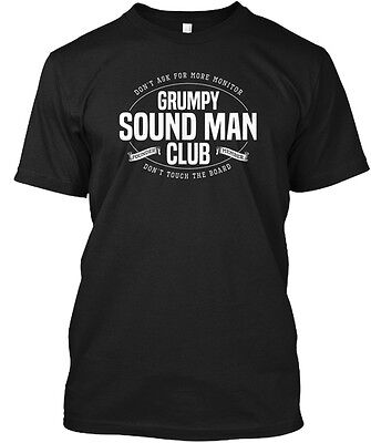 Grumpy Sound Man Club Music Og Dont Ask For More Hanes Tagless Tee T Shirt