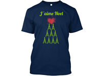 Hand designed French themed Christmas t-shirt. All sizes available.
