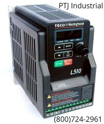 1 Hp Vfd Drive 115 Volt 1 Phase Inverter Teco Westinghouse L510-101-h1-u New