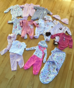 Preemie baby girl clothes - lot $80