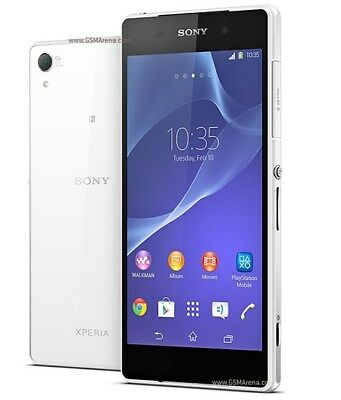 "Sony Xperia Z2 D6503 16GB 5.2"" Smartphone 4G LTE (Unlocked, White) 20.7 MP GPS for sale  Shipping to South Africa"