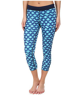 Nike Women's Medium Printed Relay Foldover Crop tights 799154 455 Blues