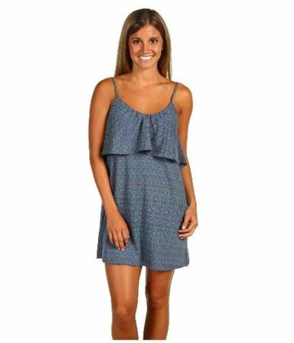 New Womens Sundress Small O Neill Dress Song Bird Spaghetti Strap Blue