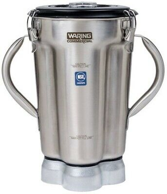 Waring Cac72 1 Gal Stainless Blender Container For Cb15 W 2 Handles Clear Lid