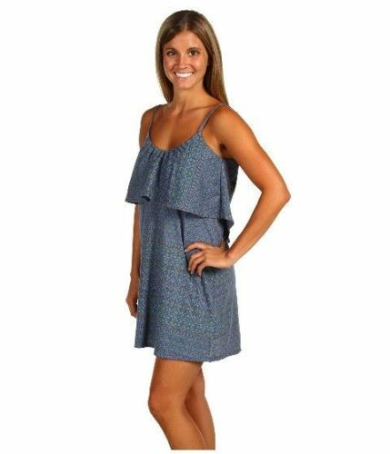 new womens sundress xs o neill dress song bird spaghetti strap blue