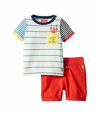 JOULES CLOTHING 9-12 Months Summer Lobster Striped Top, 2 Piece Set NWT $40