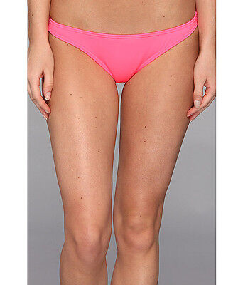 VOLCOM SIMPLY FULL REVERSIBLE BIKINI SWIM BOTTOMS CORAL PINK X SMALL NEW! (Reversible Full Swimsuit Bottoms)