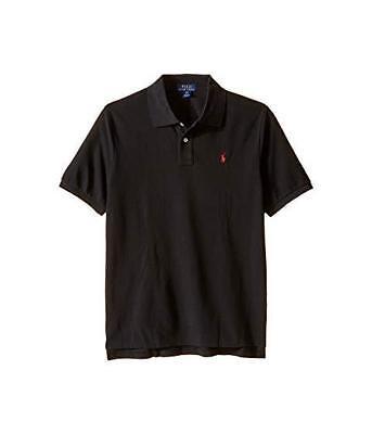 - Ralph Lauren Kids Polo Shirt Boys SS Black w/Red pony   choose size