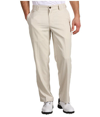 ADIDAS Men's ClimaLite 3 Stripe Flat Front Tech Golf Pants NWT Size: 36 X (Adidas Golf Mens Climalite 3 Stripes Pant)