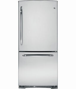 BRAND NEW FRIDGE GE 21CU BOTTOM MOUNT FREEZER STAINLESS STEEL