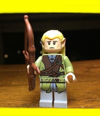 LEGO THE HOBBIT LORD OF THE RINGS LEGOLAS w/ ARROW GENUINE AUTHENTIC MINIFIGURE