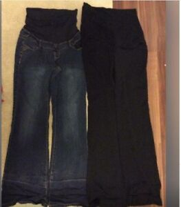 Maternity pants - 2 pairs(thyme) used