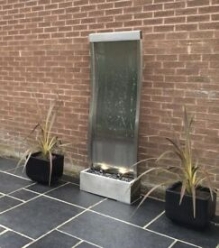 Curved Stainless Steel Water Wall Cascade (1.83m/6ft)