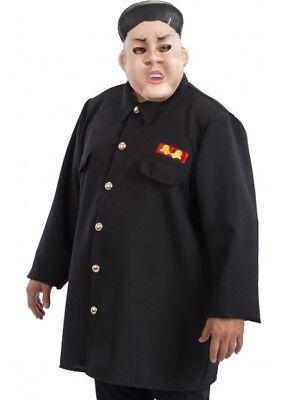 Dictator Leader Korea Kim Jong Un Um Fancy Dress COSTUME & MASK Outfit - Un Kostüm Koreanisch