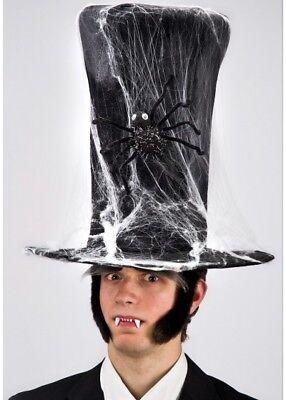 Extra Tall Top Hat Halloween Undertaker Fancy Dress Adults Grave Digger (Extra Tall Kostüme)