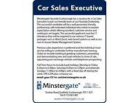 Sales Executive required Minstergate Hyundai (Scarborough)