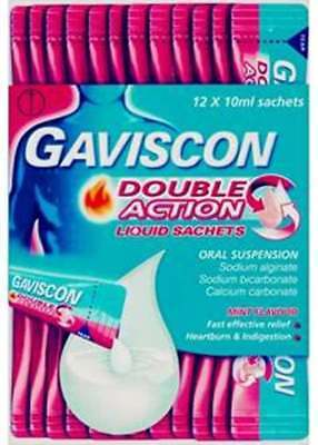 - Gaviscon Double Action Liquid Sachets