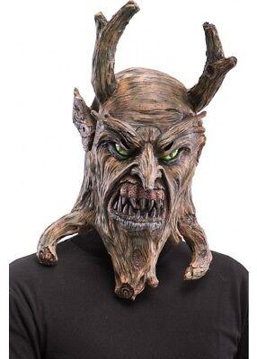 Monster Maske Kostüm Voller Kopf Goblin Demon Holz Gesicht (Halloween-baum Voll)