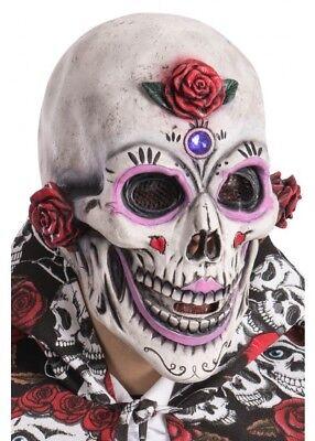 Deluxe Tag der Toten Zuckerschädel Maske Dia De Los Muertos Kostüm (Zucker Schädel Maske Kostüm)