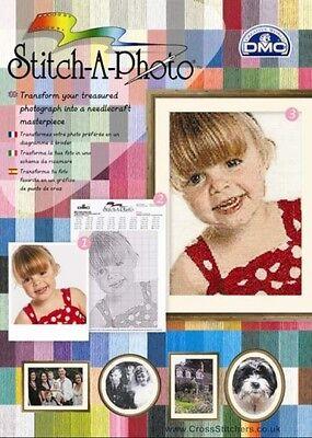NEW DMC Stitch-A-Photo Cross Stitch Chart Conversion Pack - FREE UK DELIVERY